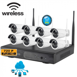 KIT WIRELESS 8 TELECAMERE 1.3 Mpx