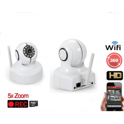 IP CAMERA WIRELESS ONVIF wifi SUPPORTA SD FINO A 128GB IR 10 METRI